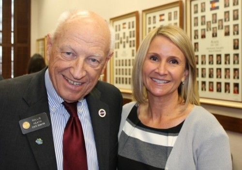 Michelle M. Peterson and Senator Rollie Heath